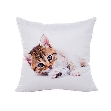 Logobeing Funda Cojines Impresión de gato Fundas de almohada ...