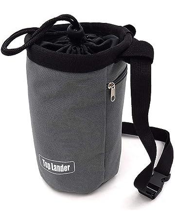 Chalk Bag—Bolsa de Magnesio en Polvo Gris Para Alpinismo, Levantamiento de Pesas,