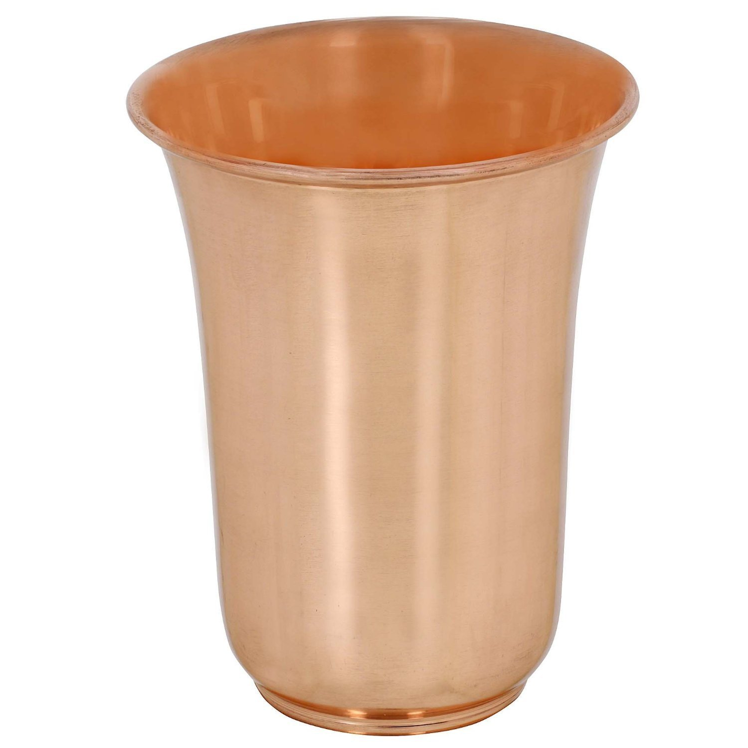 Glass - Set of 2 Pure Copper Tumblers Ayurvedic Water Drinking Glasses Serveware drinkware, Capacity 350 Ml for Ayurvedic Health Benefits. For Home, kitchen, Restaurants.