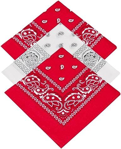 Juego de 3 pañuelos de alta calidad, 100% algodón, diseño de cachemira, pañuelos, pañuelos para