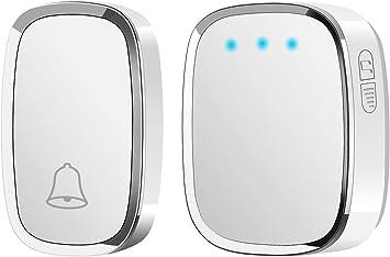 Waterproof Door Bell Wall Plug-in Cordless Chime AUSEIN Wireless Doorbell 36