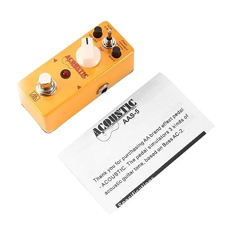 AROMA AAS-5 de la guitarra acústica simulador de pedal de efecto ...