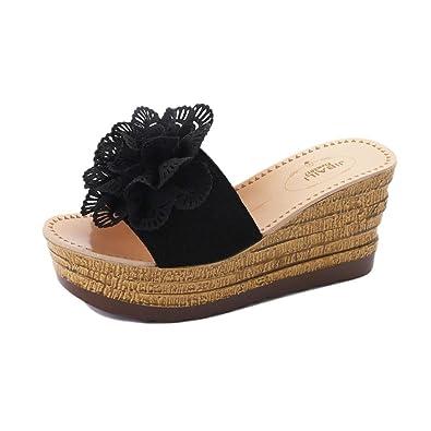 59bcf3d6e2c3 Lolittas Summer Beach Boho Wedge Sandals for Women Ladies