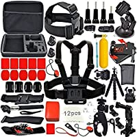YFY 24-In-1 Basic Outdoor Sports Accessories Kit for GoPro Hero Cameras
