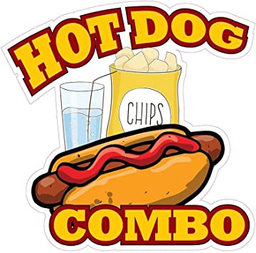 "All American Hot Dogs 24/"" Decal Concession Food Truck Hotdog Cart Vinyl Sticker"