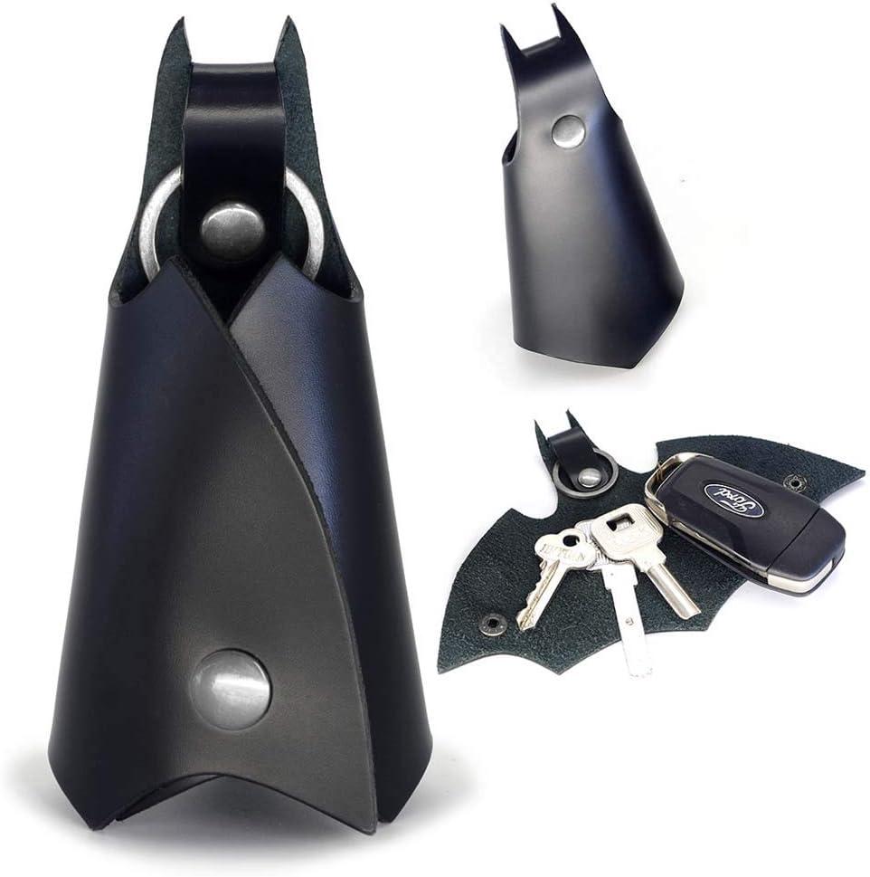 CAILLU KeyChain Leather Bat for men Car key fob case,Leather POP keys ring cover holder,man bmw key chain