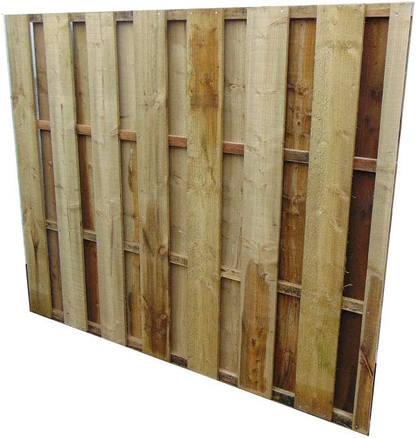 H 182cm Flat Top Fence Panel 6ft Smileswoodcraft Wooden Garden Hit and Miss Wind Proof Fencing 2ft W x 60cm