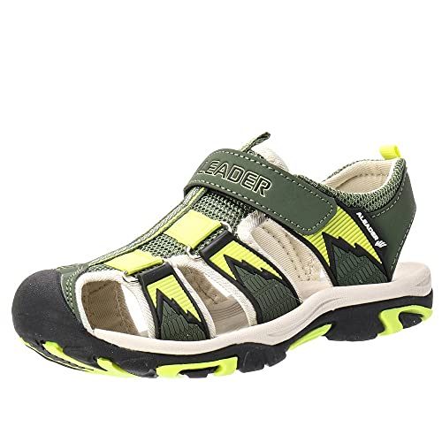 451111cd2e0c aleader Kids Youth Sport Water Hiking Sandals (Toddler Little Kid Big Kid)  Army 4 m us Big Kid  Amazon.in  Shoes   Handbags