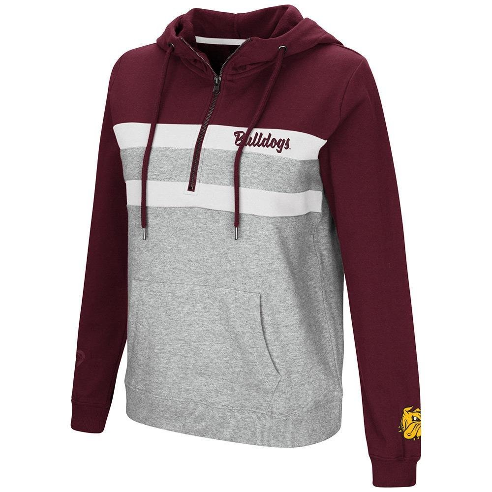 Colosseum Womens Minnesota Duluth Bulldogs Quarter Zipプルオーバーパーカー B07DWSGKM5  Small