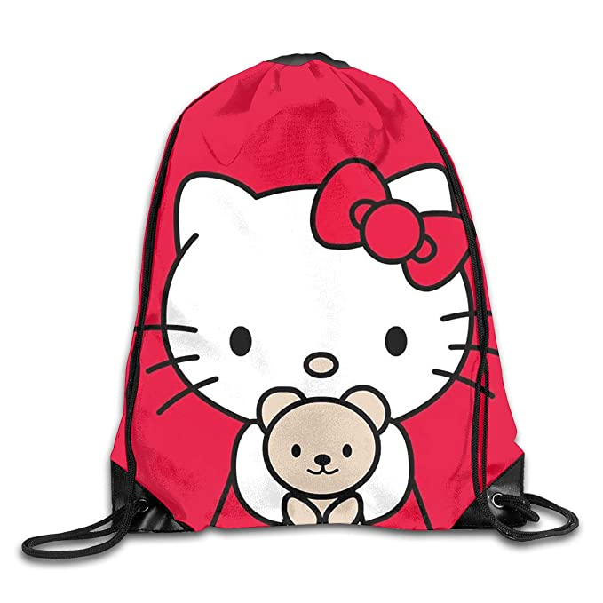 05cf97347 Amazon.com: Meirdre Unisex Hello Kitty in Red Tiny Sports Drawstring  Backpack Gym Bag: Home & Kitchen
