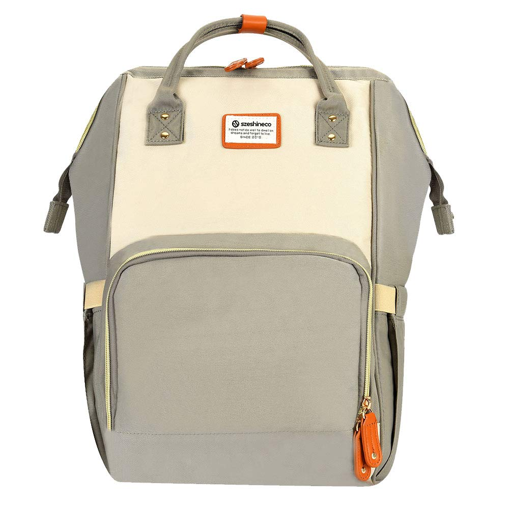 Mummy Bags, Szeshineco Mummy Changing Bag Backpack Fashion Nappy Backpack Multifunction Organizer Backpack (Grey)