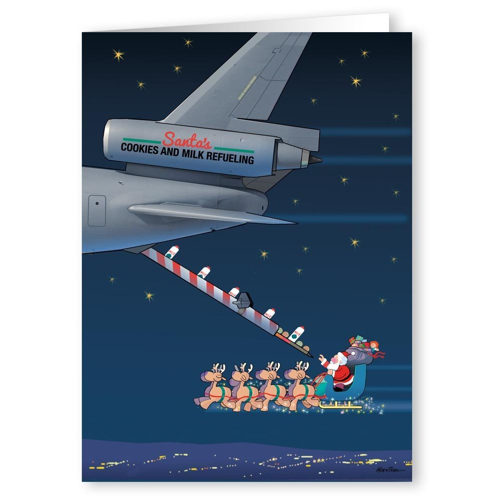 Amazon.com: Air Force Christmas Card - Military 18 Cards & Envelopes ...