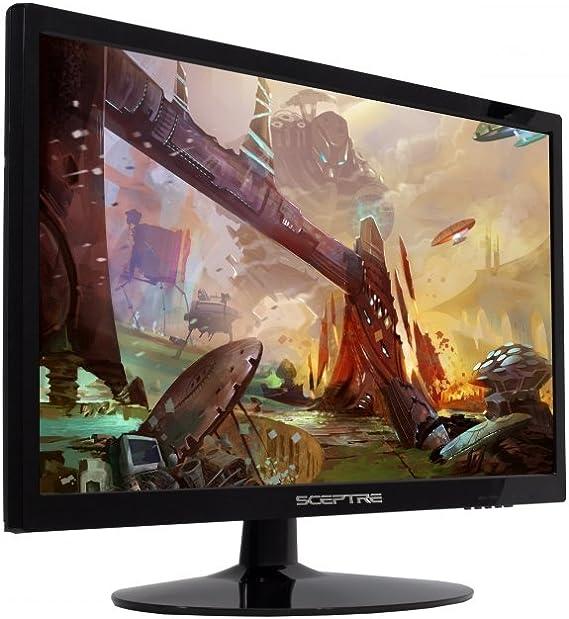 Sceptre 22 Inch LED 1080p Monitor E225W-1920 1920x1080 HDMI VGA Build-in Speakers Machine Black