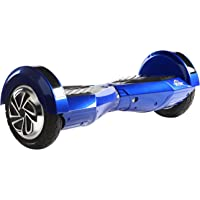 M MEGAWHEELS 8 Inch Self Balance Scooter with Built-in Genuine Samsung Battery, Bluetooth Speakers and Carry Bag (BLUE-BLACK)