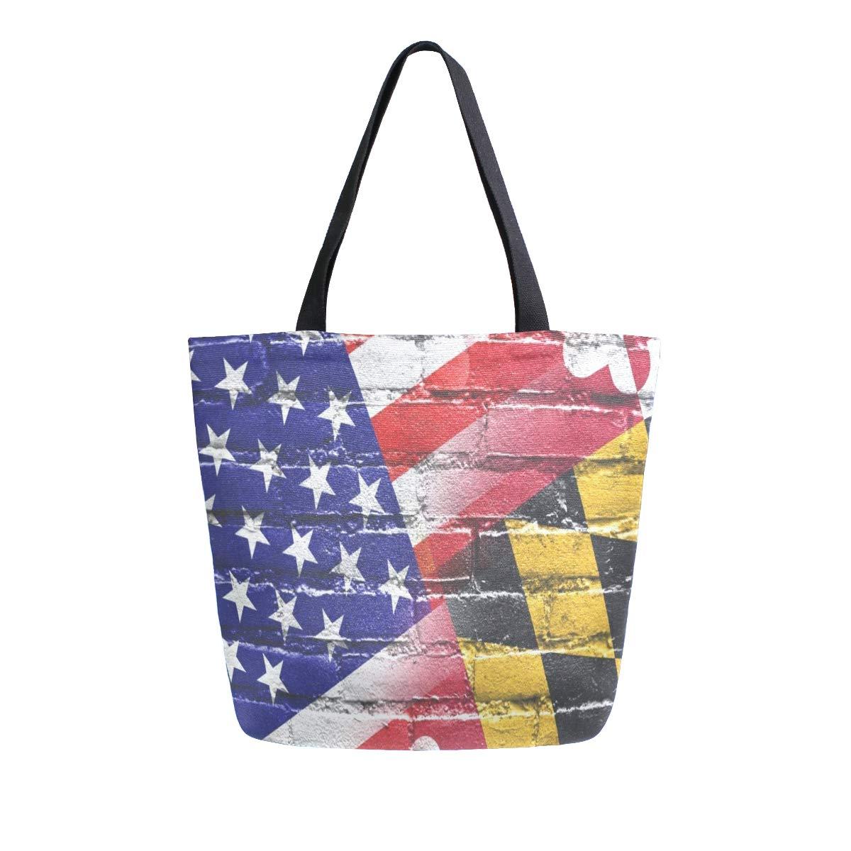 Maryland State Flag Travel Bag Cute Luggage Bags Duffle Bag Large Capacity Travel Organizer Bag