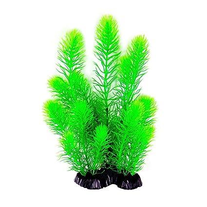 TRULIL - Planta de Acuario Artificial de plástico Colorido para decoración de Acuario, 26 cm