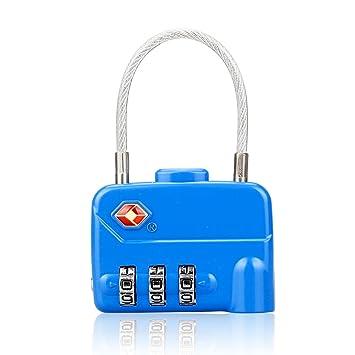 LOHOME Certificado por Tsa equipaje Locks - 3 dígitos Cable Combinación candados para equipaje de viaje/bolsa de ordenador portátil/maletín equipaje: ...