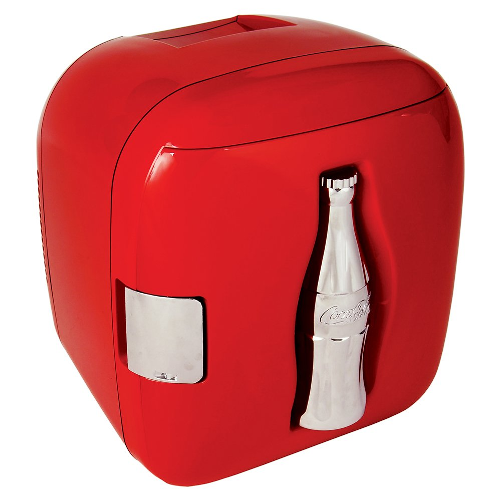 Koolatron KWCXJ6 Coca-Cola 9-Can-Capacity Mini Fridge, Red