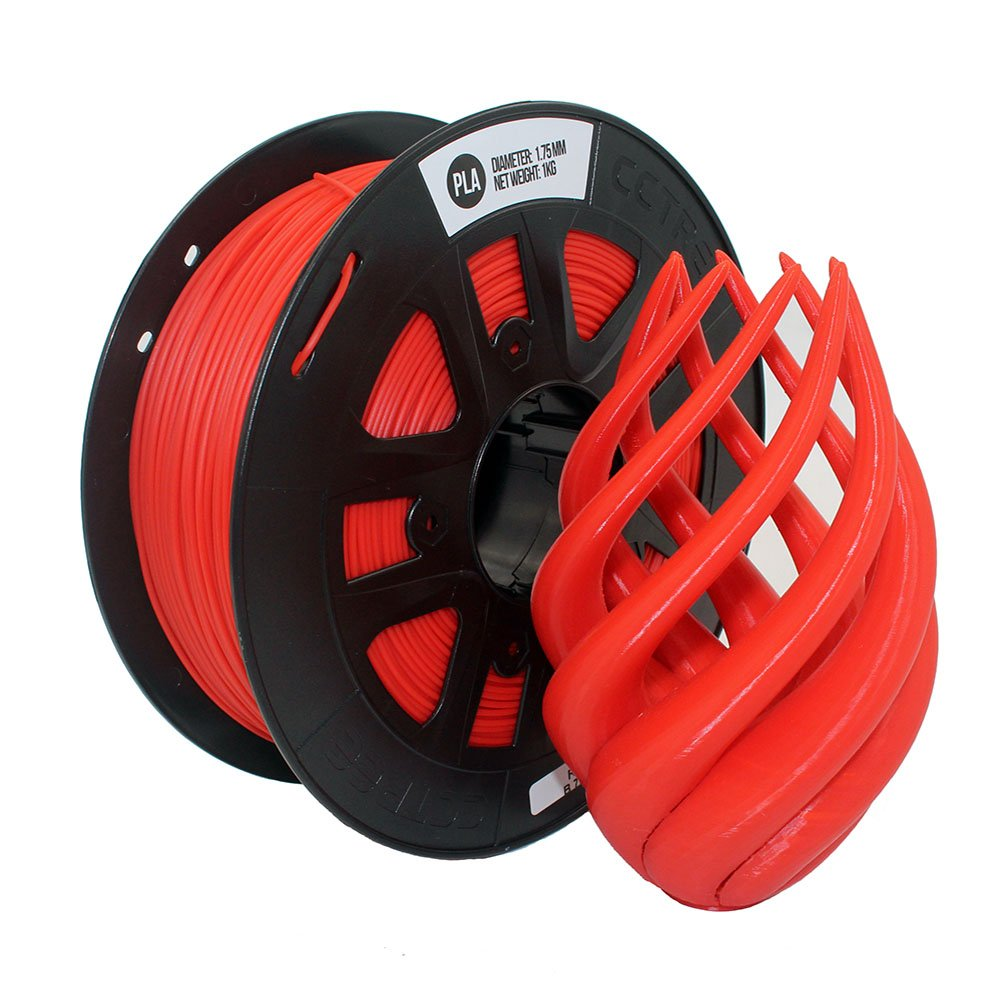 CCTREE 3D Printer PLA 1.75MM Filament For Creality CR-10,10S,Ender 3,Tevo, Makerbot,Anet A8 (Red) CCTREE 3D Printing CC-PLA-175-RED-UK