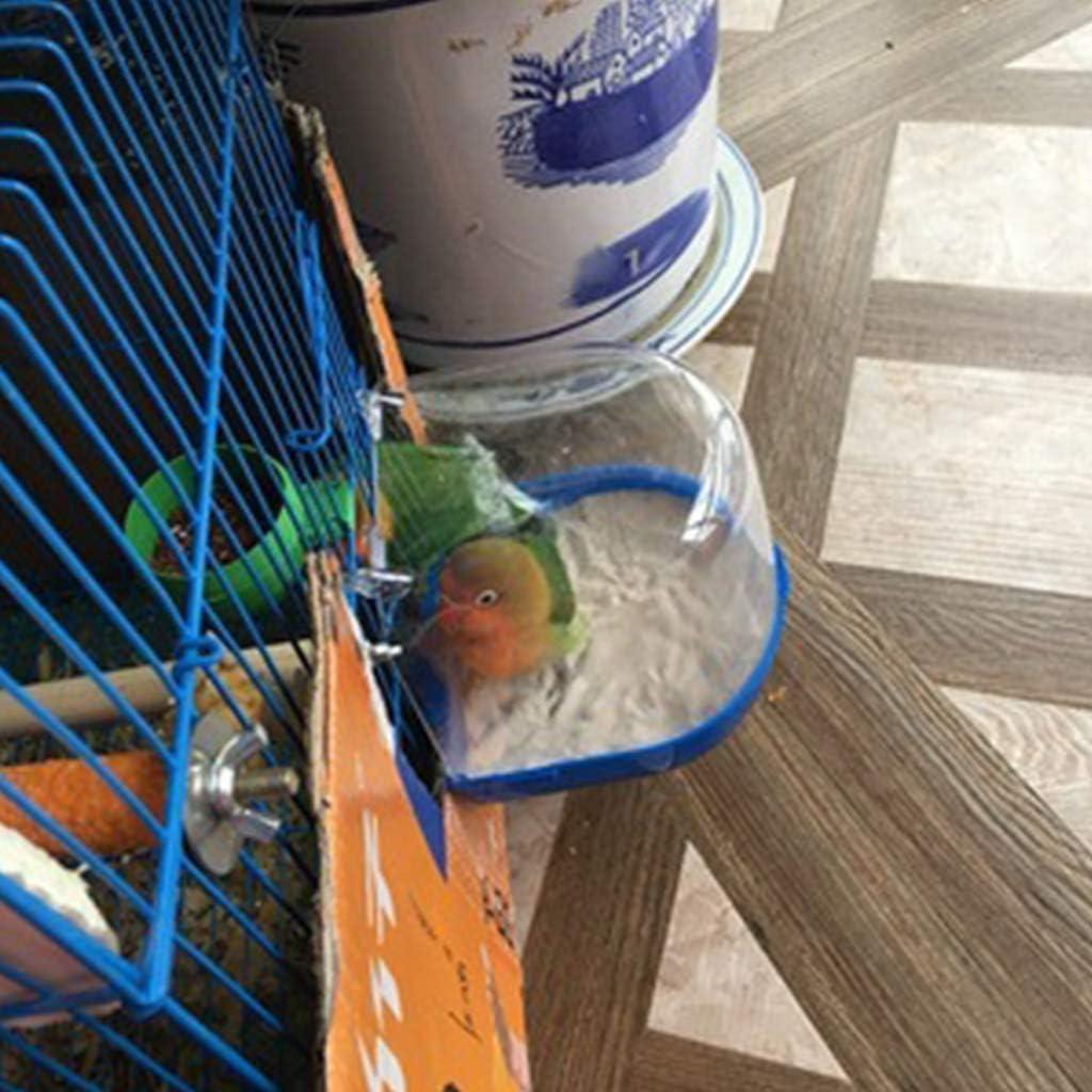 fivekim Plastic Hanging Bathtub High Transparent Bird Bathing Tub for Parrots Birds Bird beauty products green