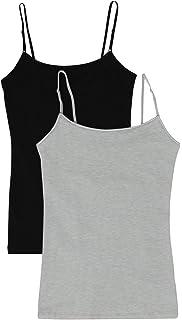 e69bb9690f25cb Women s Camisole Built-in Shelf Bra Adjustable Spaghetti Straps Tank Top  Pack