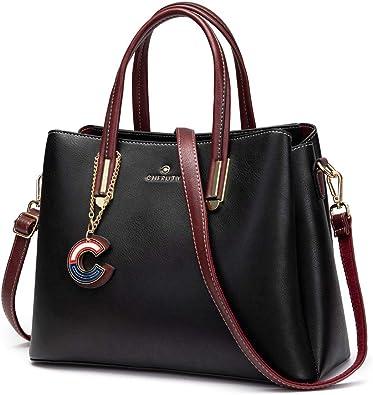 Amazon.com: Cheruty Purses and Handbags for Women, Designer Leather  Shoulder Tote Bag Satchels with Zipper(Black): Shoes
