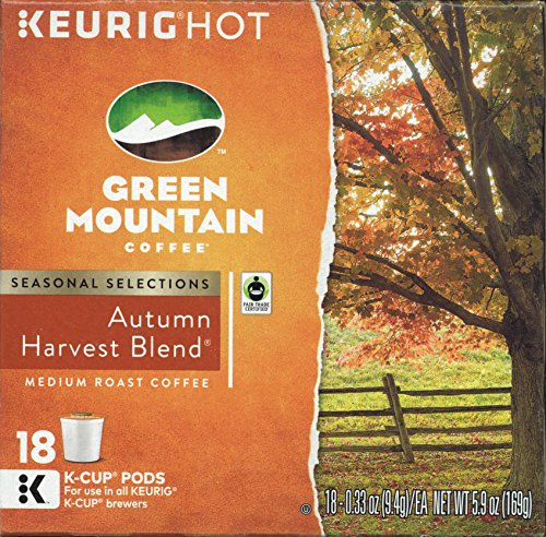 Green Mountain Coffee Autumn Harvest Blend Keurig 2.0 K-Cup Duffle, 18 Count