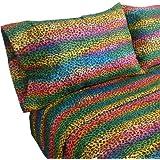 Street Revival Rainbow Leopard Full Sheet Set, Multi