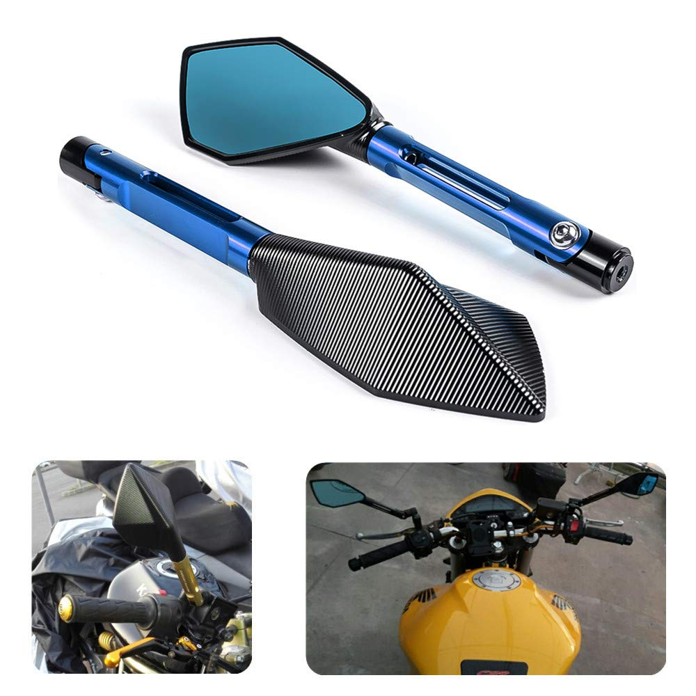 Universal 2 Pcs Racing Motorcycle Mirrors Sport Bike Rear View Mirror Bar End Rear Mirrors Scooters Rearview Mirror New Black