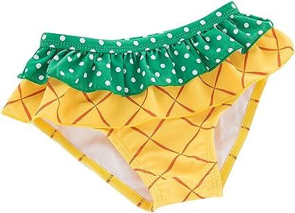 Collager Toddler Girls Tankini Bikini 3 Pieces Swimwear Pineapple Swimming Bathing Swimsuit