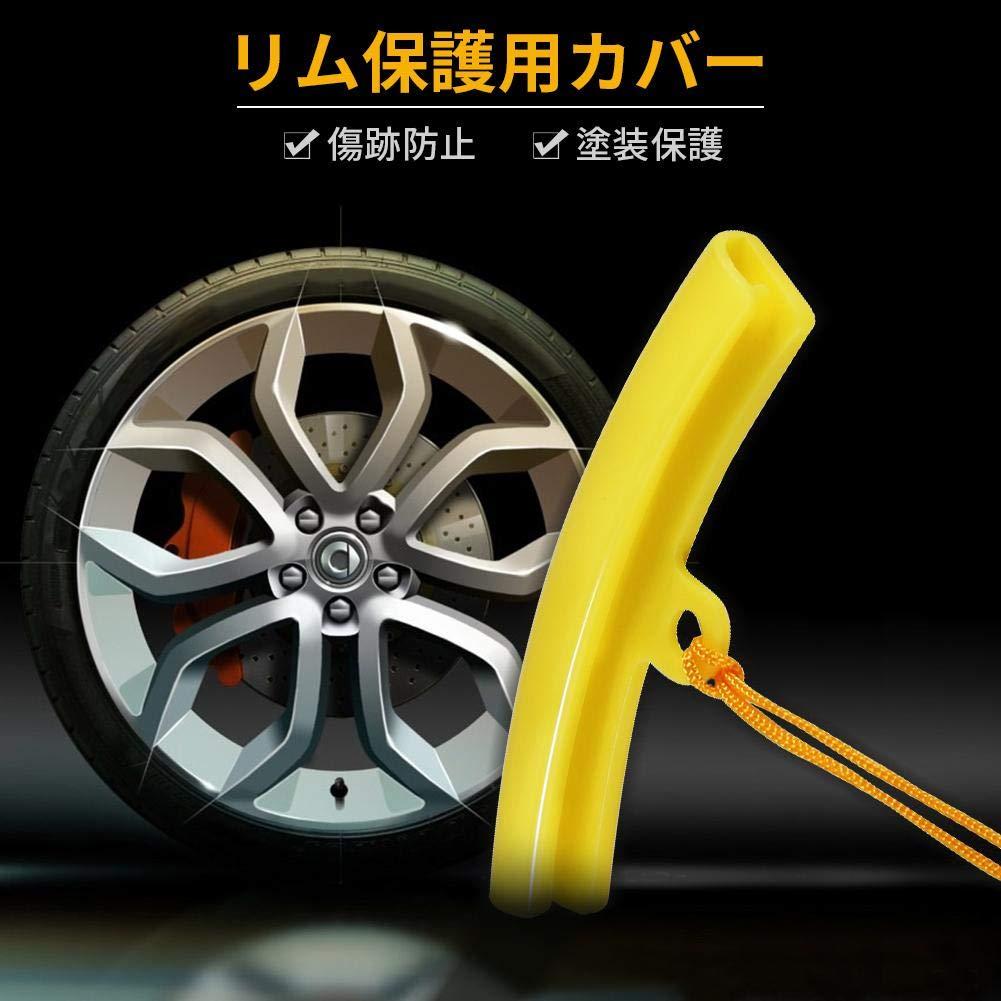 herramienta para quitar neum/áticos Accesorios para proteger las llantas del coche Naranja 5pcs Protector de llanta de rueda