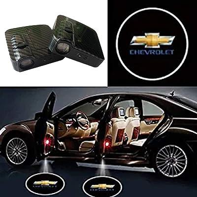 SOONDAR Car Door Lights for Chevrolet Upgraded Universal Senseor Car Door Led Logo Projector Light (2PCS): Automotive