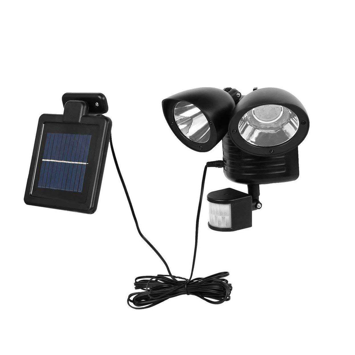 Tree-on-Life Detector PIR de Doble Cabeza L/ámpara de Seguridad Solar Punto Solar Luz Sensor de Movimiento 22 LED Proyector Exterior Jard/ín Luz de detecci/ón de Patio
