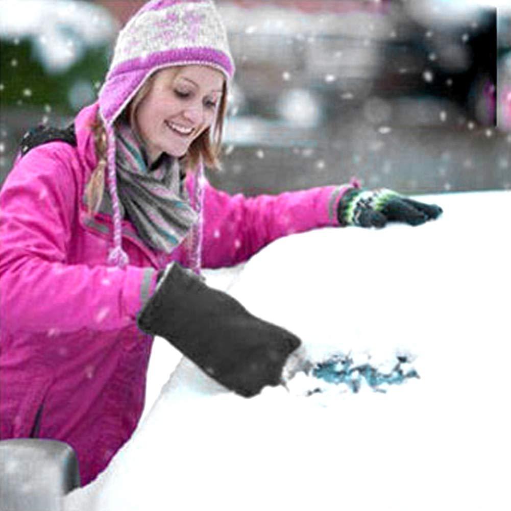 QLF younker Grattoir /à Glace avec Gant Grattoir Pare-Brise Pare-Brise Snow raclettes avec /étanche Snow Remover Gant doubl/é de Polaire /épais
