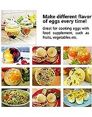 Love77 Recipiente para cocer Huevos, escalfador de Huevos, Ahorrar Tiempo, fácil de cocinar, huevera de Gel de sílice de Calidad alimentaria, Llevar a ebullición los Huevos sin la Carcasa, 7 Piezas
