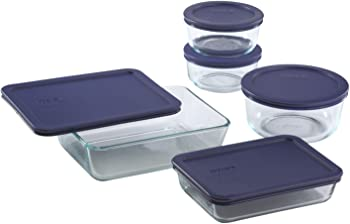10-Piece Pyrex Simply Store Meal Prep Glass Food Storage Containers Set