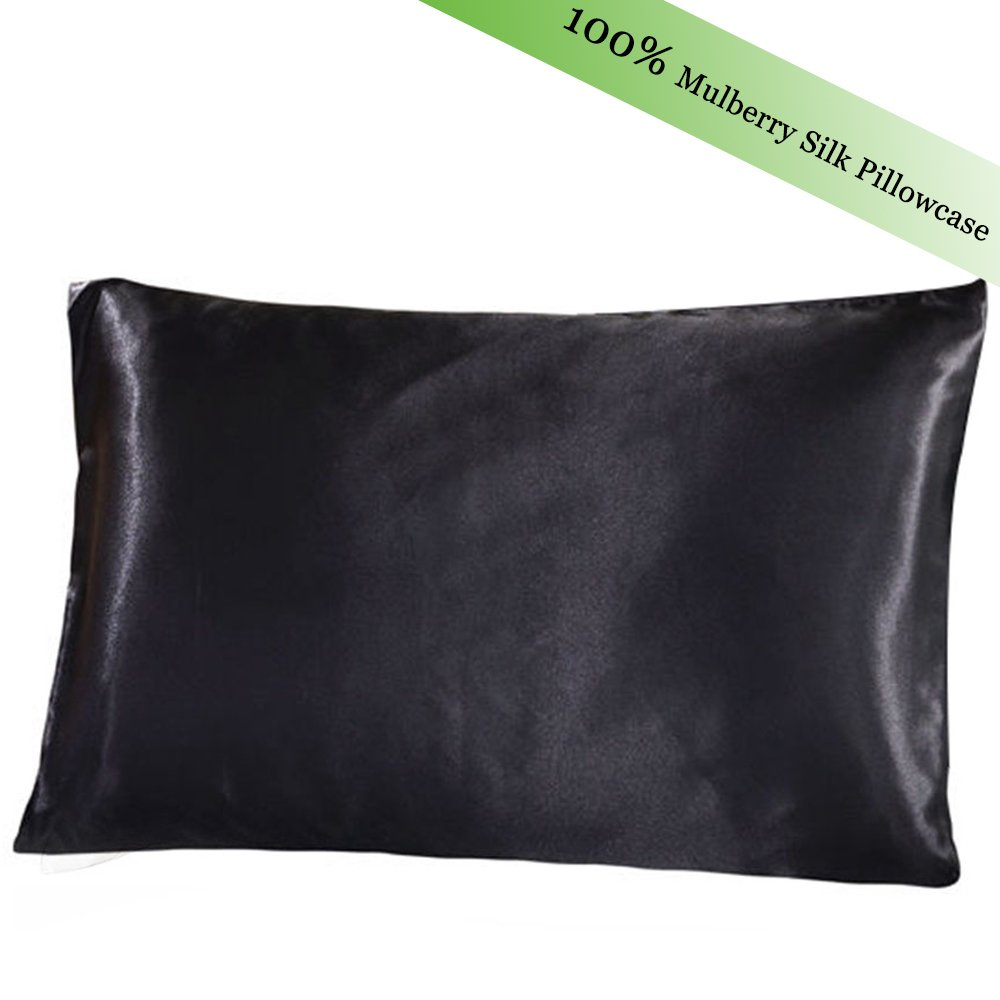 100% Mulberry Silk Pillowcase For Hair And Skin Hypoallergenic Pillowcase Set Cover With Hidden Zipper FMS