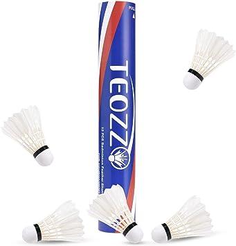 Amazon.com: TEOZZO - Juego de 12 volantes de bádminton con ...