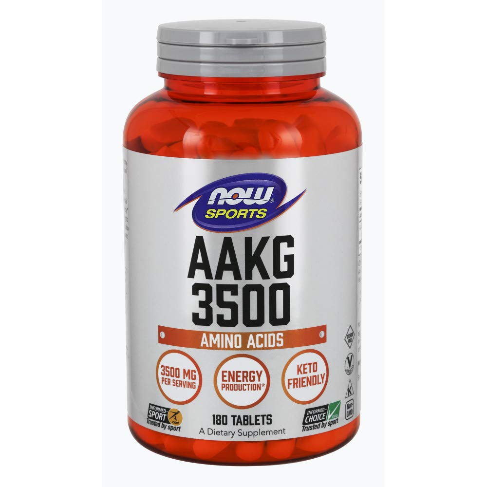 NOW Sports Nutrition, AAKG (Arginine Alpha-Ketoglutarate) 3500, 180 Tablets by Now Sports