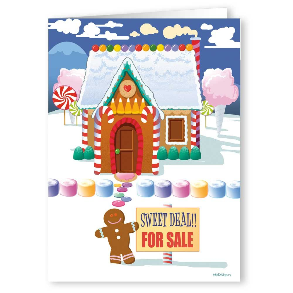 Amazon.com: Snowman Family Real Estate Holiday Card 18 Cards ...