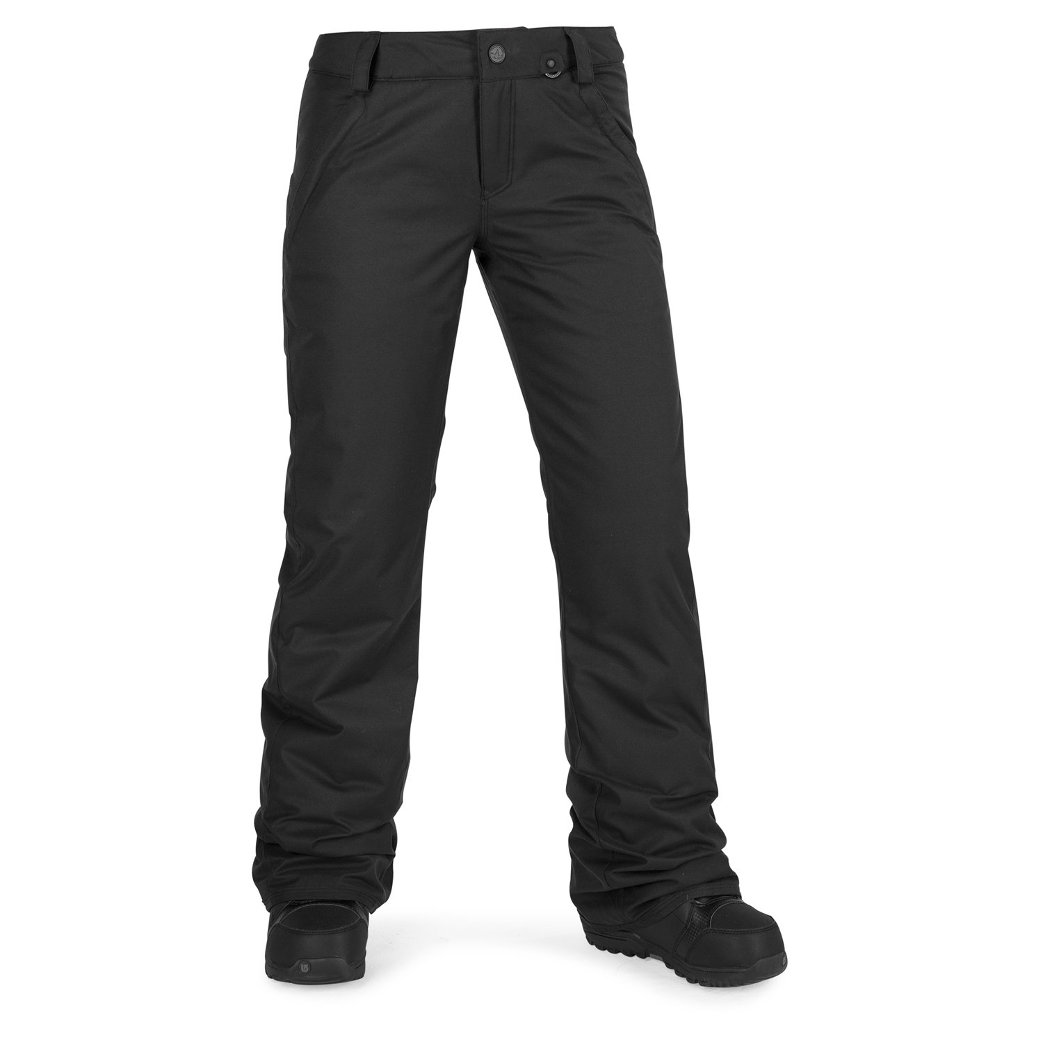 Volcom Junior's Frochickie Insulated 2 Layer Shell Snow Pant, Black, Small