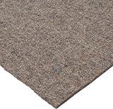 Grade F7 Pressed Wool Felt Sheet, Gray, Meets SAE J314, 3/16'' Thickness, 48'' Width, 72'' Length