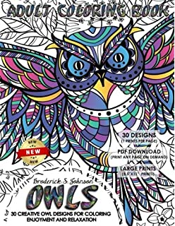 Amazon.com: Owl Coloring Books For Adults Relaxation: Creative Owl ...