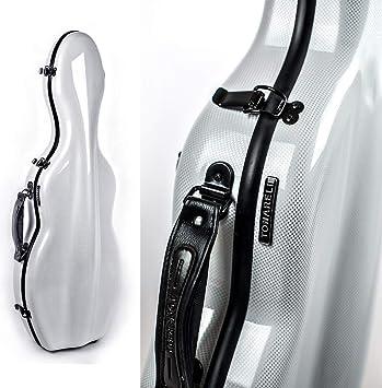 Tonareli - Estuche para violín fibra de vidrio 4/4 sonderausgabe perlado grafito vnf1016 + ordenador funda - autorizado Comercial