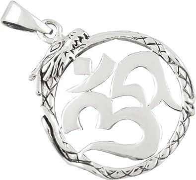 AFP Anhänger Drachen Aum Om 925 Sterling Silber AS 574