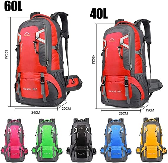 60L Outdoor Camping Hiking Climbing Backpack Waterproof Military Heavy Duty Bag