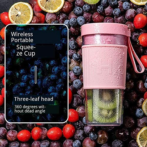 WULE-RYP Blender Portable Portable Blender USB Mixer Frullatore Smoothie della Macchina Frullatore Mini Food Processor Personal Blender Coppa frullatori Juice (Color : White) Blue
