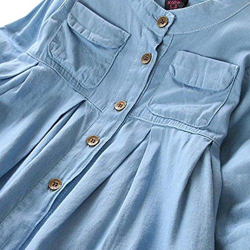 con T in con a Top lunghe maniche in shirt maniche lunghe lunghe denim lunghe camicetta T abbigliamento maniche di maniche shirt a donna da rrT6q
