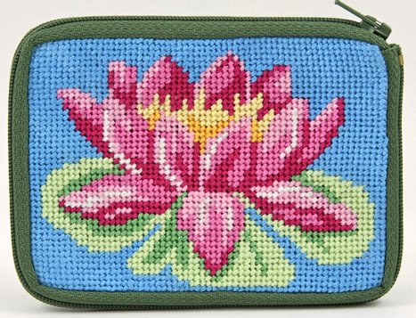 Lilies Needlepoint - Coin Purse - Waterlily - Needlepoint Kit