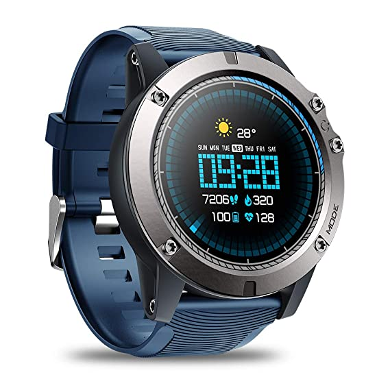Amazon Com Heart Rate Smartwatch Zeblaze Vibe 3 Pro Waterproof